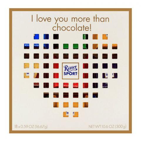 Ritter Sport Mini Heart Chocolate Gift Box 300gm