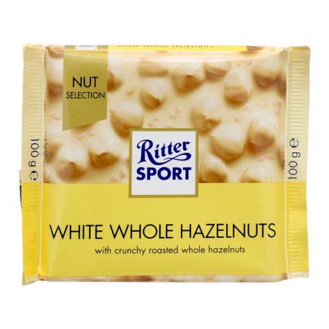 Ritter Sport Nut Selection White Whole Hazelnuts, 100g