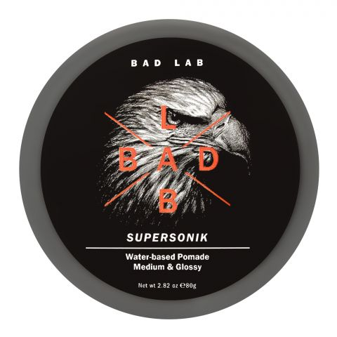 Bad Lab Supersonik Water Based Pomade, Medium & Glossy, 80g
