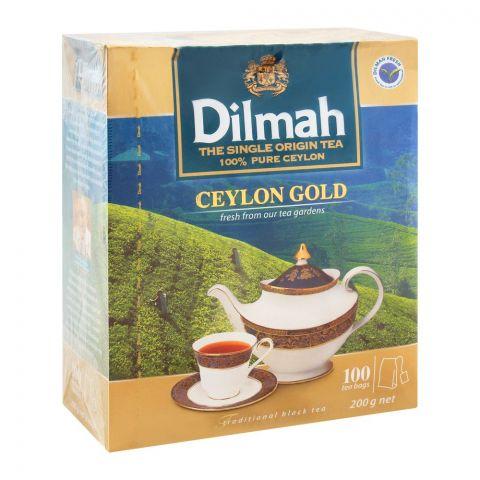Dilmah Ceylon Gold Tea, 100 Tea Bags