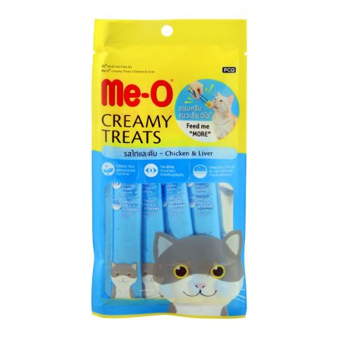 Me-O Creamy Treats, Chicken & Liver, Cat Food, 60g