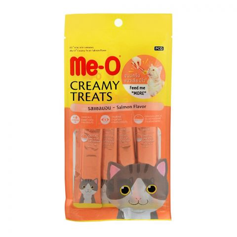 Me-O Creamy Treats, Salmon Flavor, Cat Food, 60g