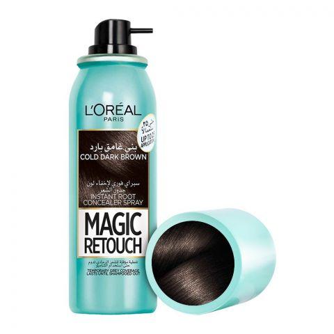 L'Oreal Paris Magic Retouch Instant Root Concealer Spray, Cold Dark Brown, 75ml