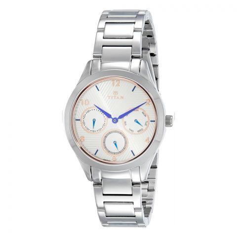 Titan Neo Analog White Dial Watch For Women, 2570SM04
