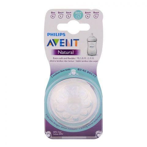 Avent Natural Teat 2-Pack 3m+ - SCF653/23