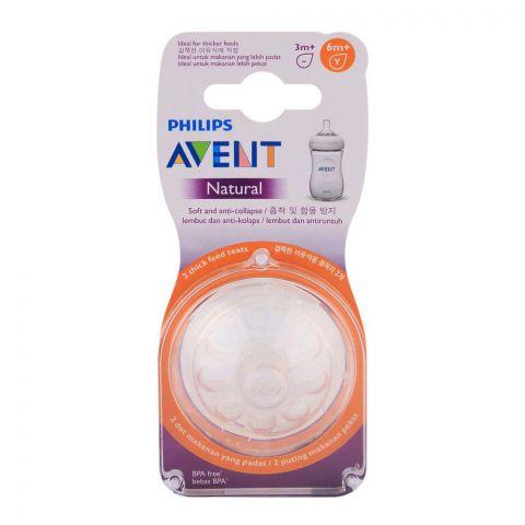Avent Natural Teat 2-Pack 6m+ - SCF656/23