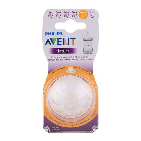 Avent Natural Teat 2-Pack 6m+ - SCF654/23