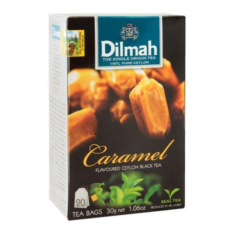 Dilmah Caramel Flavoured Ceylon Black Tea, 20 Tea Bags