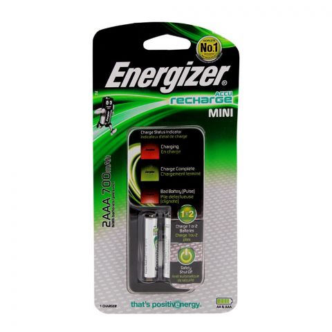 Energizer Mini Charger 2xAAA Batteries