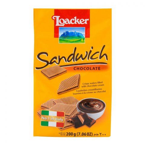 Loacker Sandwich Chocolate 200gm