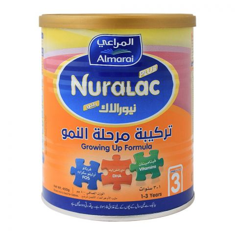 Almarai Nuralac Plus, Stage 3, Growing-Up Formula, 400g
