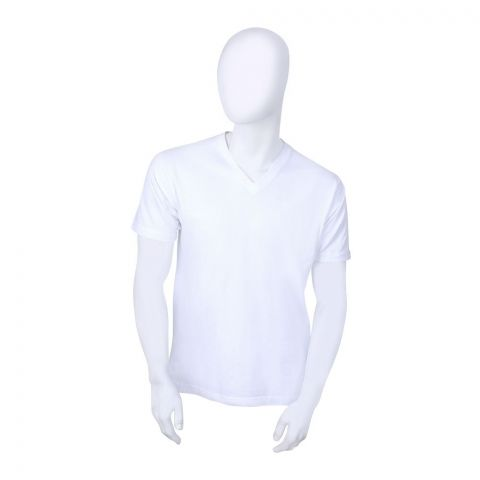 Jockey Classic V-Neck T-Shirt, White - MR-1714