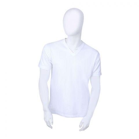 Jockey Classic V-Neck T-Shirt, White - MR-1714