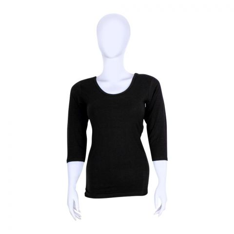 Jockey Thermal 3-Quarter Sleeves Top, Women, Black - WR2503