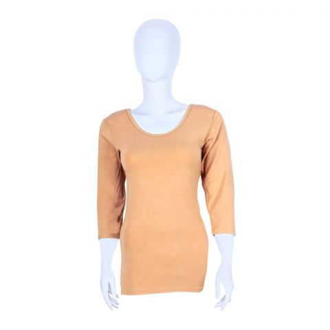 Jockey Thermal 3-Quarter Sleeves Top, Women, Skin Color - WR2503