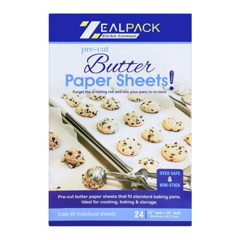 Zeal Pack Butter Paper Sheets 24-Pack