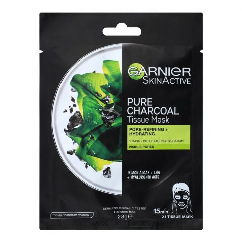 Garnier Skin Active Pure Charcoal Pore Refining + Hydrating Face Mask, 28g