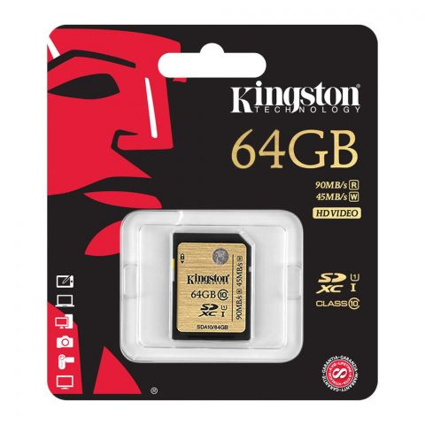 Kingston 64GB SDXC SD Card, Class 10, Canvas Select, 90MBs/45MB/s