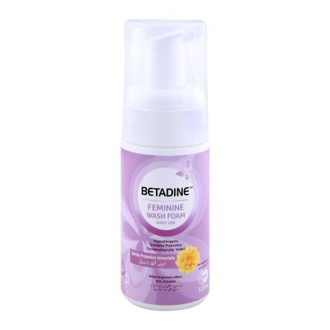 Betadine Feminine Wash Foam Pump, Sensitive Skin 100ml