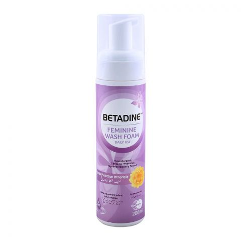 Betadine Feminine Wash Foam Pump, Sensitive Skin 200ml