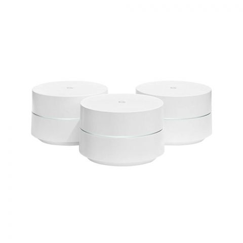 Google Home Wi-Fi System, Wireless Router, 3-Pack, AC1200 Dual-Band Mesh Wifi