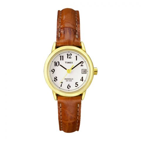 Timex Women's Indiglo Leather Strap Watch - T2J761