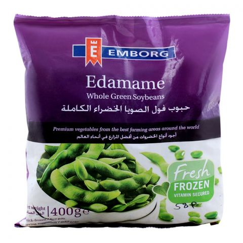 Emborg Frozen Edamame Whole Green Soybeans 400g