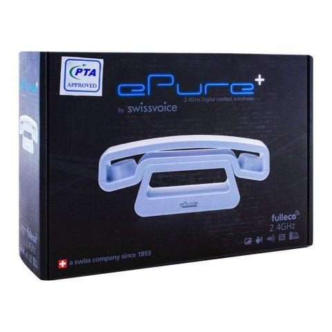 SwissVoice ePure+ 2.4GHz Cordless Phone, White