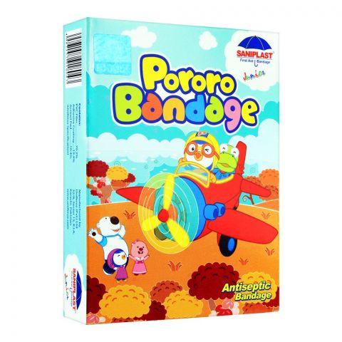 Saniplast Junior Pororo Antiseptic Bandage, Aeroplane, 20-Pack