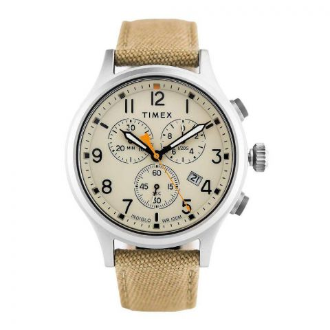 Timex Men's Allied Chronograph Nylon Strap/Natural Dial Watch - TW2R47300