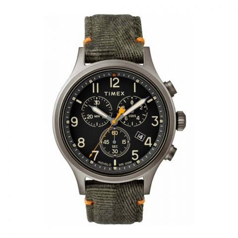 Timex Men's Allied Chronograph Analog Green Dial Watch - TW2R60200