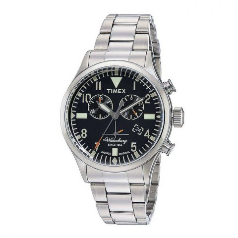Timex Waterbury Traditional Chronograph 42mm Stainless Steel Watch - TW2R24900