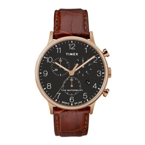 Timex Waterbury Classic Chronograph Analog Black Dial Men's Watch - TW2R71600