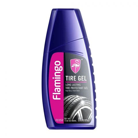 Flamingo Tire Protectant Gel, High Gloss Shine, 500ml