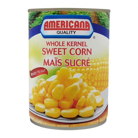 Americana Whole Kernel Sweet Corn, Tin, 400g