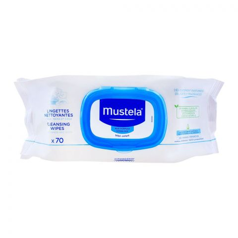 Mustela Baby Cleansing Wipes, Normal Skin, 70-Pack