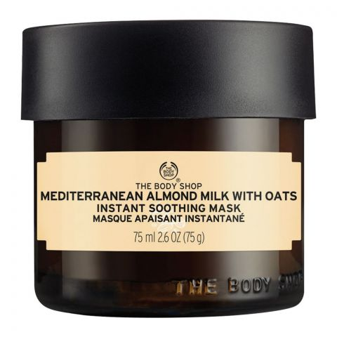 The Body Shop Mediterranean Almond Milk Instant Soothing Mask, With Oats, 75ml