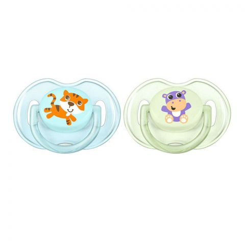 Avent Classic Soothers 2-Pack, 0-6m, Blue/Green, SCF169/23