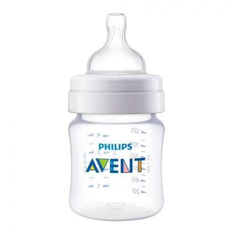 Avent Classic+ Feeding Bottle, 0m+, 125ml/4oz, SCF452/17