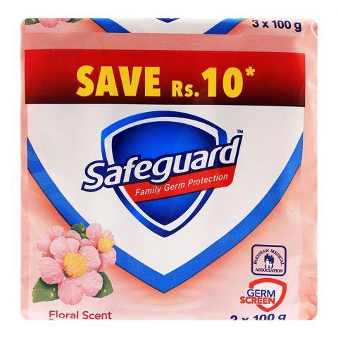 Safeguard Floral Scent Soap 3-Pack 100gm Value Pack