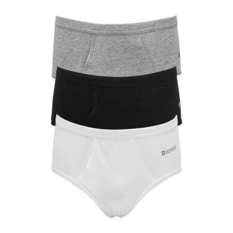 Adam Men's Brief Underwear, 3 Pack, Mix Colors, 7272