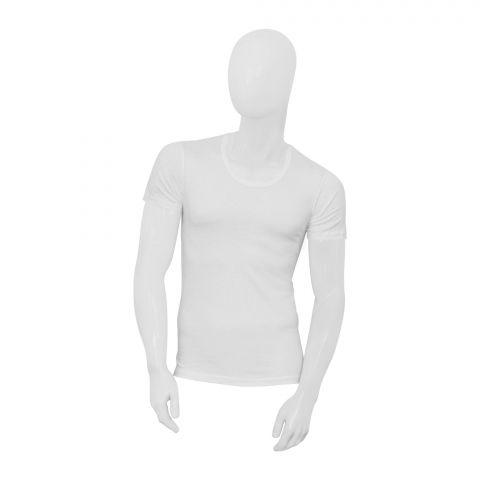 Adam U Shape Neckline Men's Vest, 1 Pack, White, U-9999