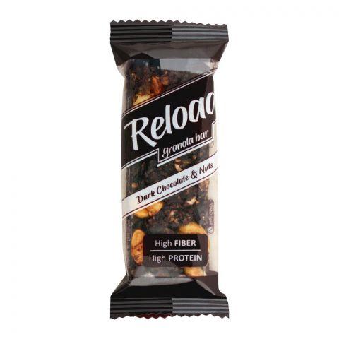 Reload Granola Bar, Dark Chocolate & Nuts, High Fiber High Protein, 38g