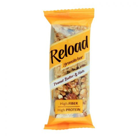 Reload Granola Bar, Peanut Butter & Nuts, High Fiber High Protein, 38g