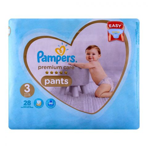 Pampers Premium Pants No. 3, 6-11kg 28-Pack