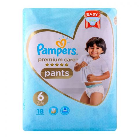 Pampers Premium  Pants No. 6, 16+kg 18-Pack