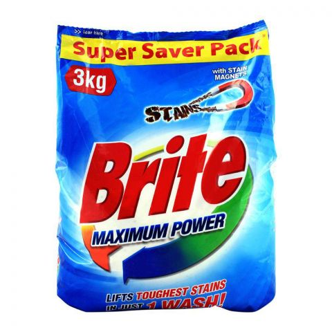 Brite Maximum Power Detergent Powder 3 KG