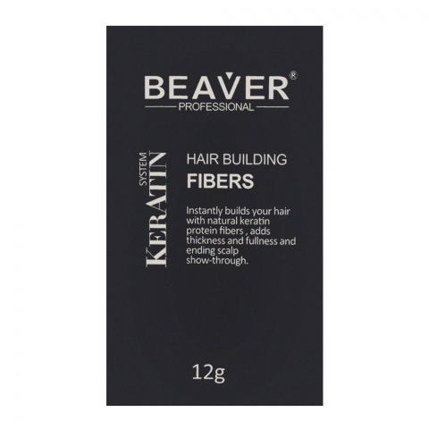 Beaver Professionls Keratin System Hair Building Fibers Black 12g