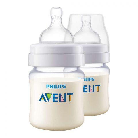 Avent Classic+ Feeding Bottle, 2-Pack, 0m+, 125ml/4oz, SCF452/27
