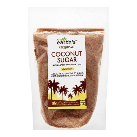 The Earth's Coconut Sugar, Gluten Free, 250g